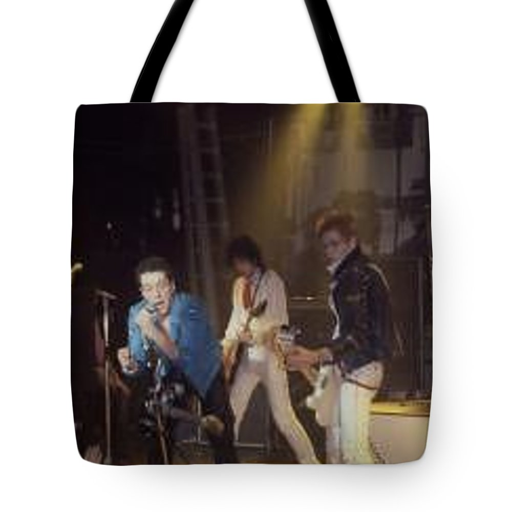The Clash-london 1978 Photo By Dawn Wirth-copyrighted Tote Bag featuring the photograph The Clash-london - July 1978 by Dawn Wirth