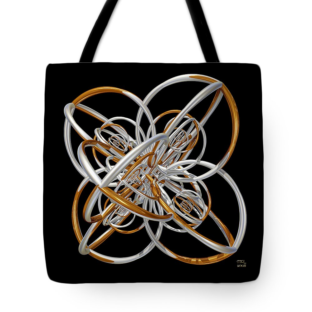 Abstract Tote Bag featuring the digital art The Classical Model by Manny Lorenzo