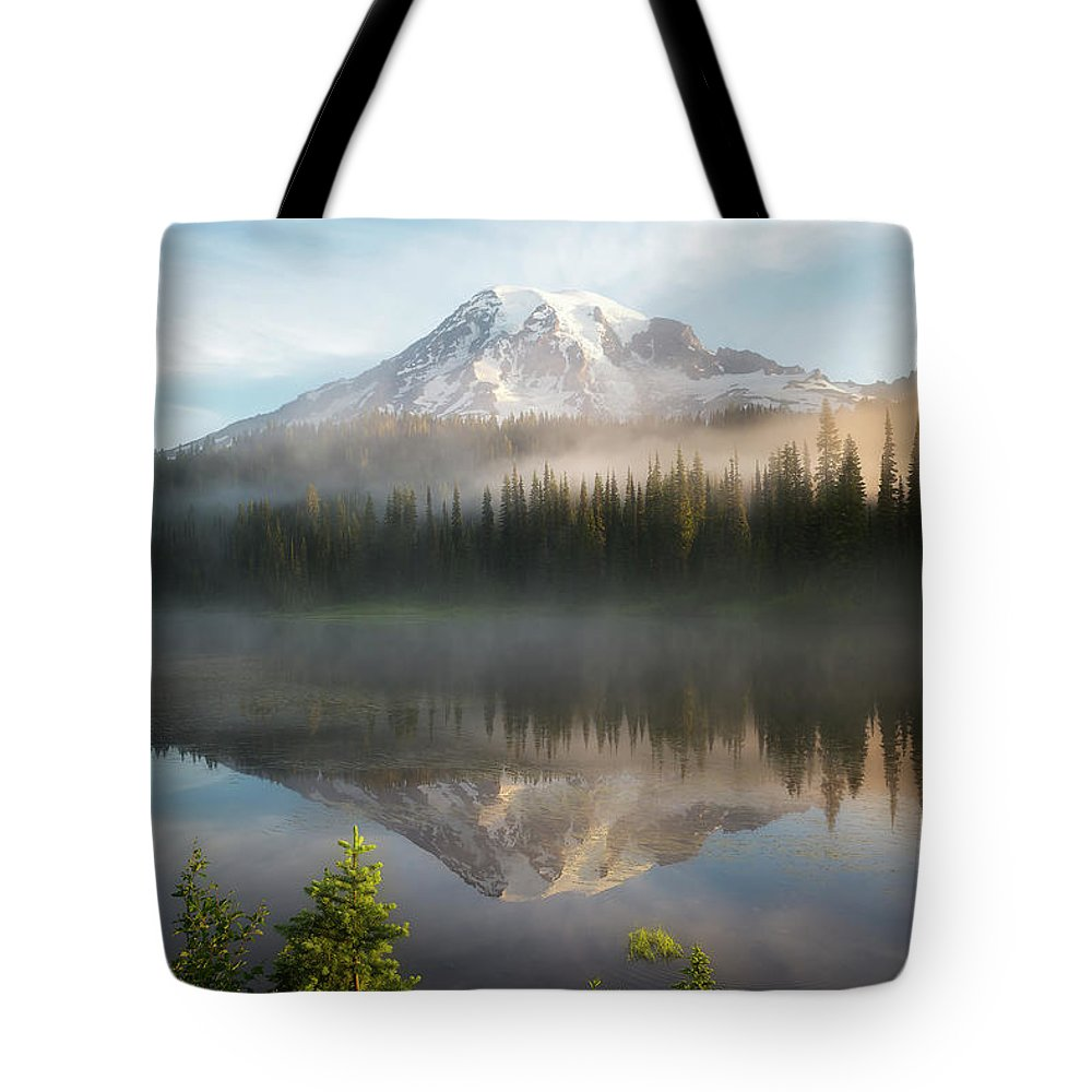 Fog Tote Bag featuring the photograph The Clearing by Ryan Manuel