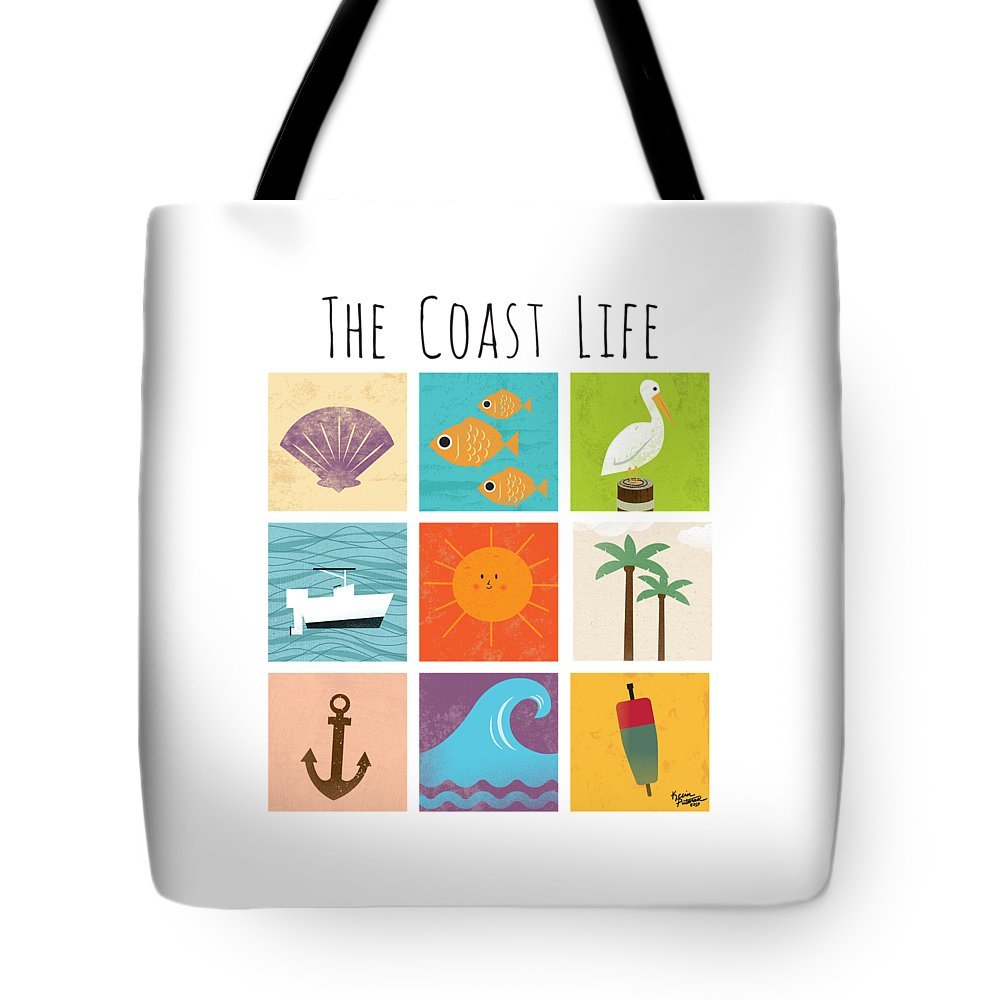 Ocean Tote Bag featuring the digital art The Coast Life by Kevin Putman