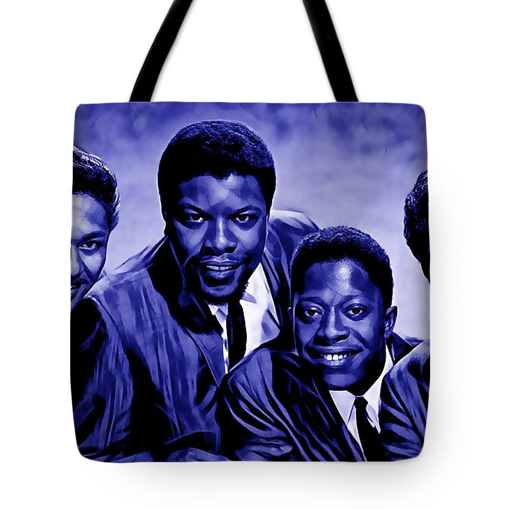 The Coasters Tote Bag featuring the mixed media The Coasters Collection by Marvin Blaine