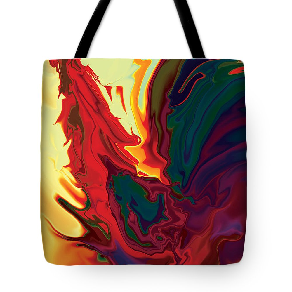 Animals Tote Bag featuring the digital art The Cock 2 by Rabi Khan