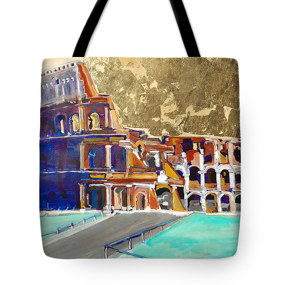 Colosseum Tote Bag featuring the painting The Colosseum by Kurt Hausmann
