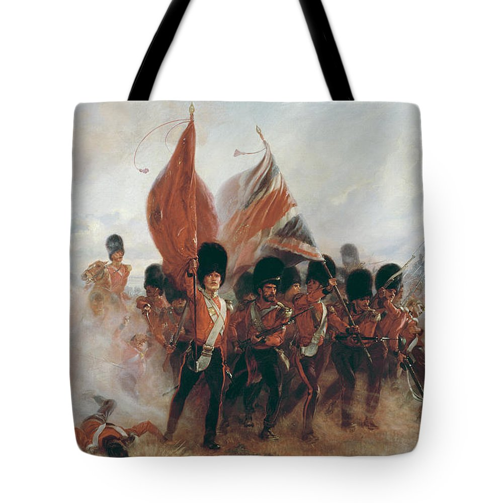 War Tote Bag featuring the painting The Colours by Elizabeth Southerden Thompson