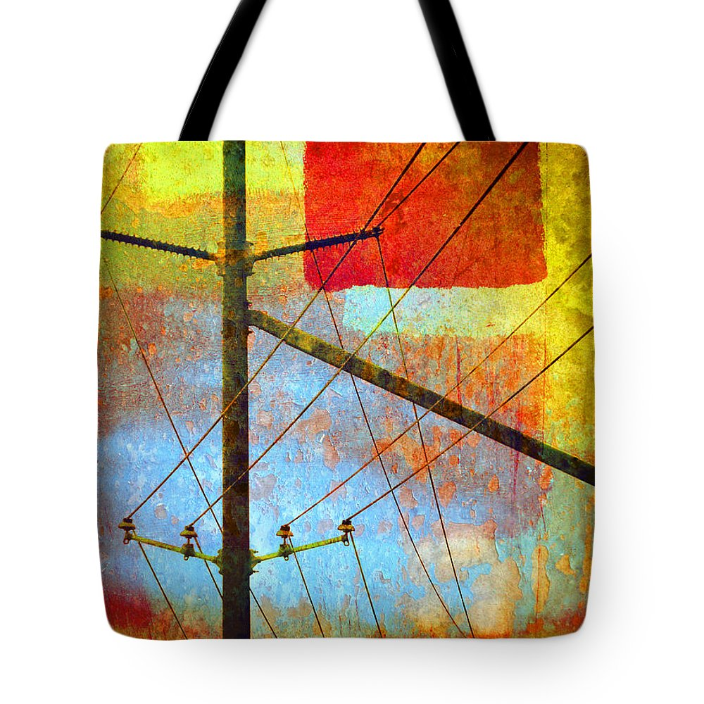 Abstract Tote Bag featuring the photograph The Colours That Pretend To Be The Sky by Tara Turner
