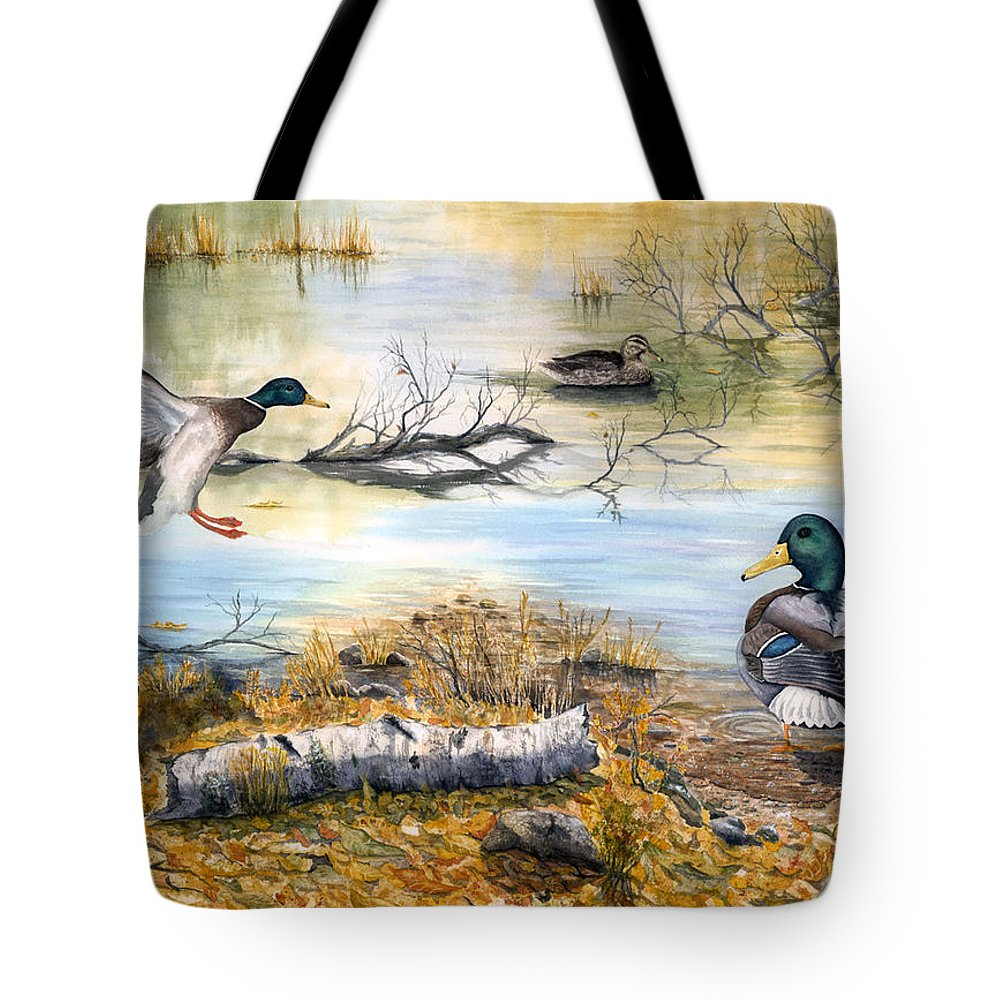 Mallerds Tote Bag featuring the painting The Competition by Mary Tuomi