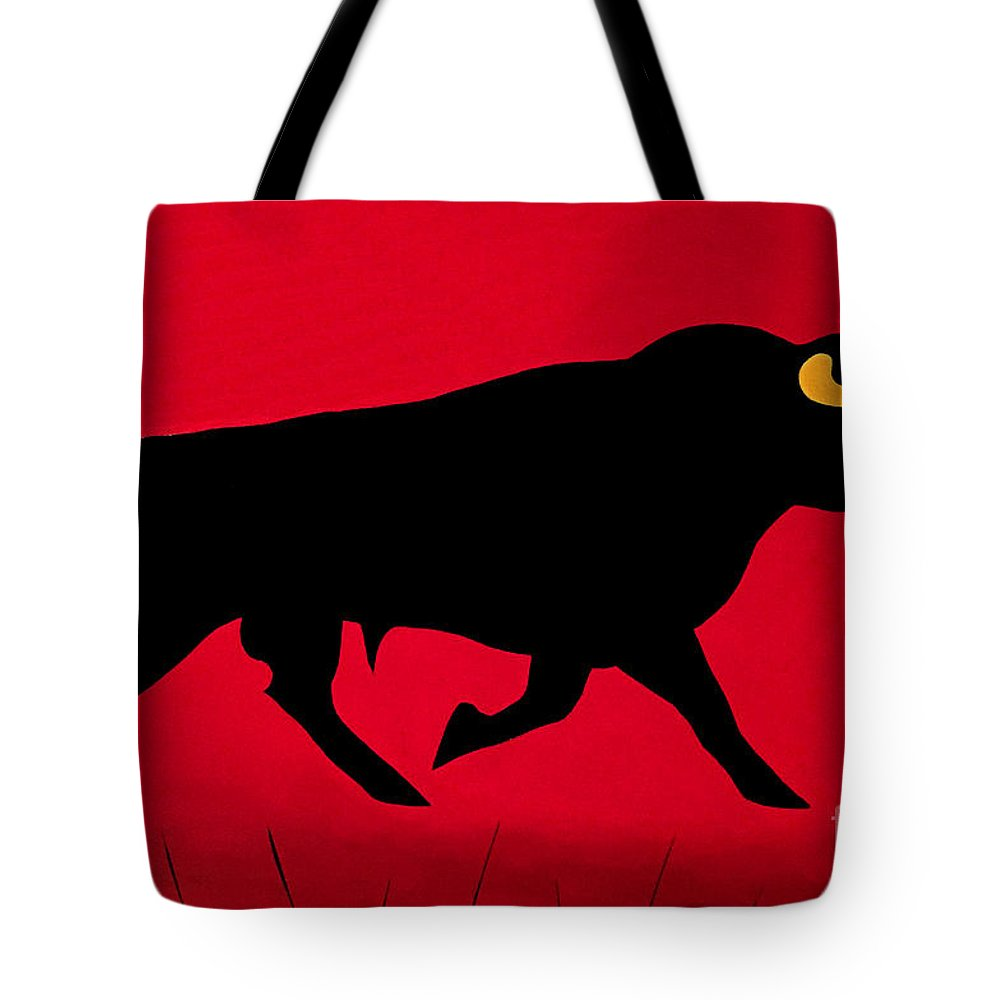 Bull Tote Bag featuring the painting The Confident Italian by Peter Paul Lividini