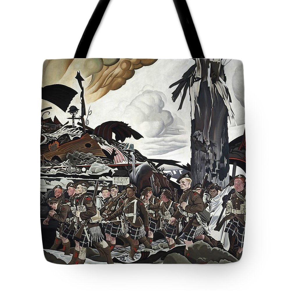 Painting Tote Bag featuring the painting The Conquerors by Mountain Dreams