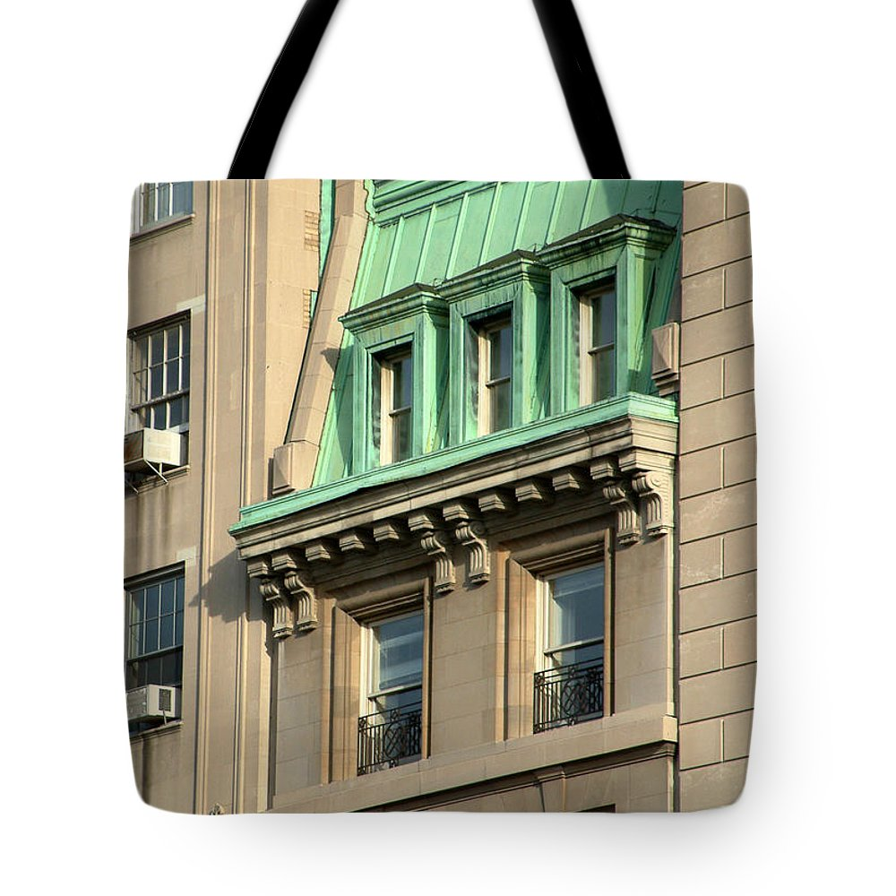 Apartments Tote Bag featuring the photograph The Copper Attic by RC DeWinter