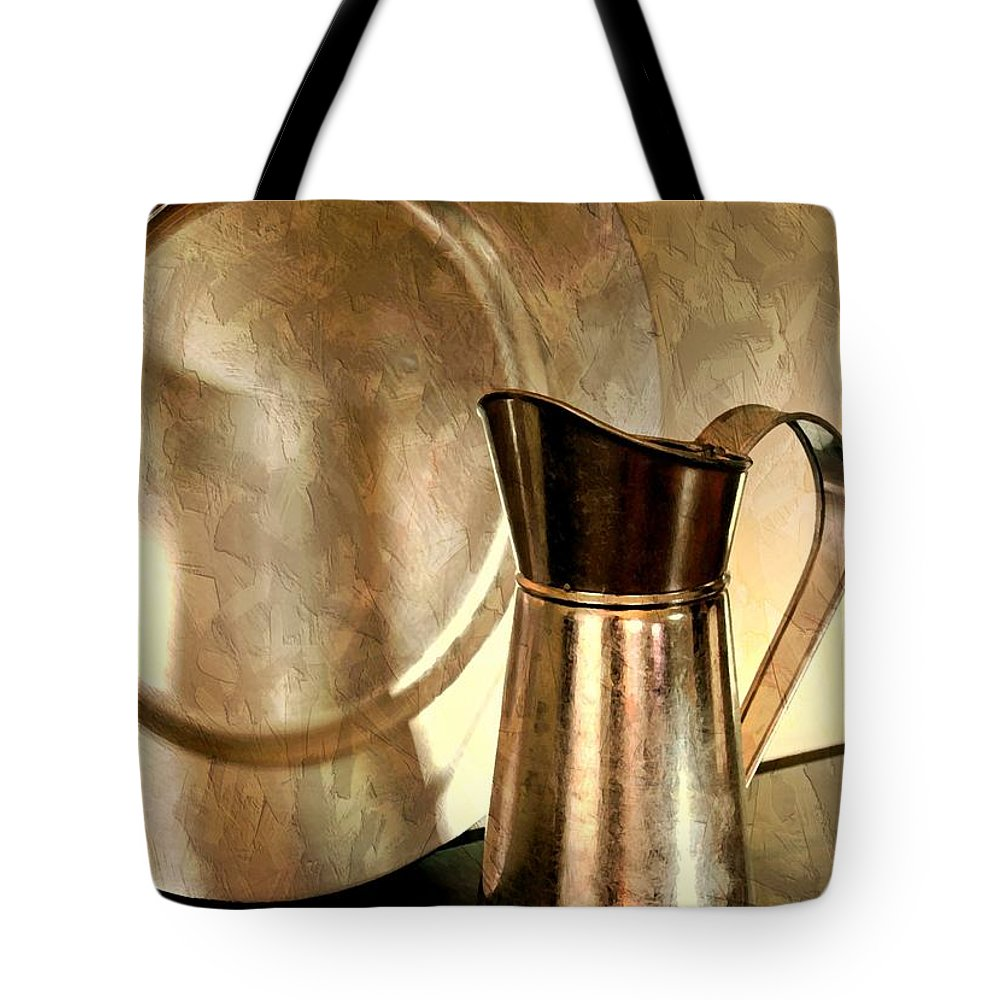 Still Life Tote Bag featuring the photograph The Copper Pitcher by Diana Angstadt