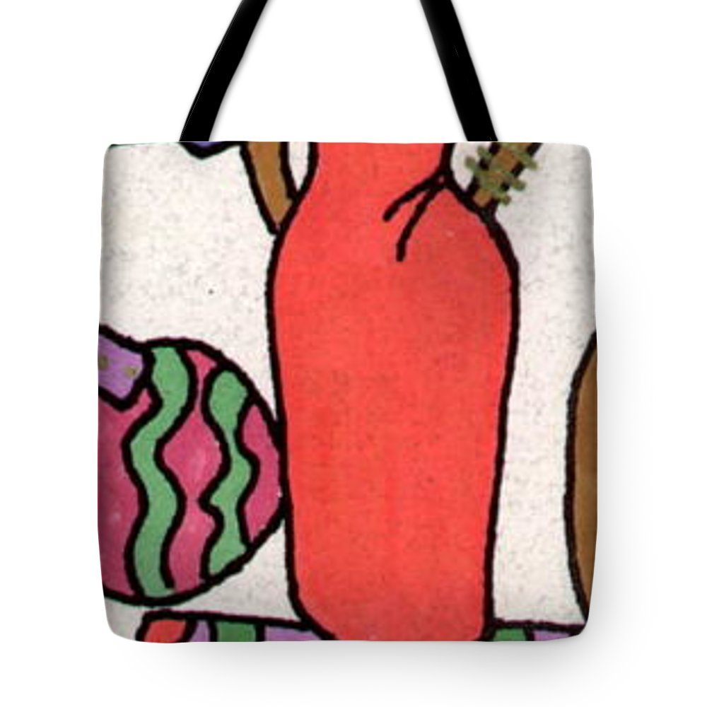 Bright Colors Tote Bag featuring the painting The Courage To Stand by Angela L Walker