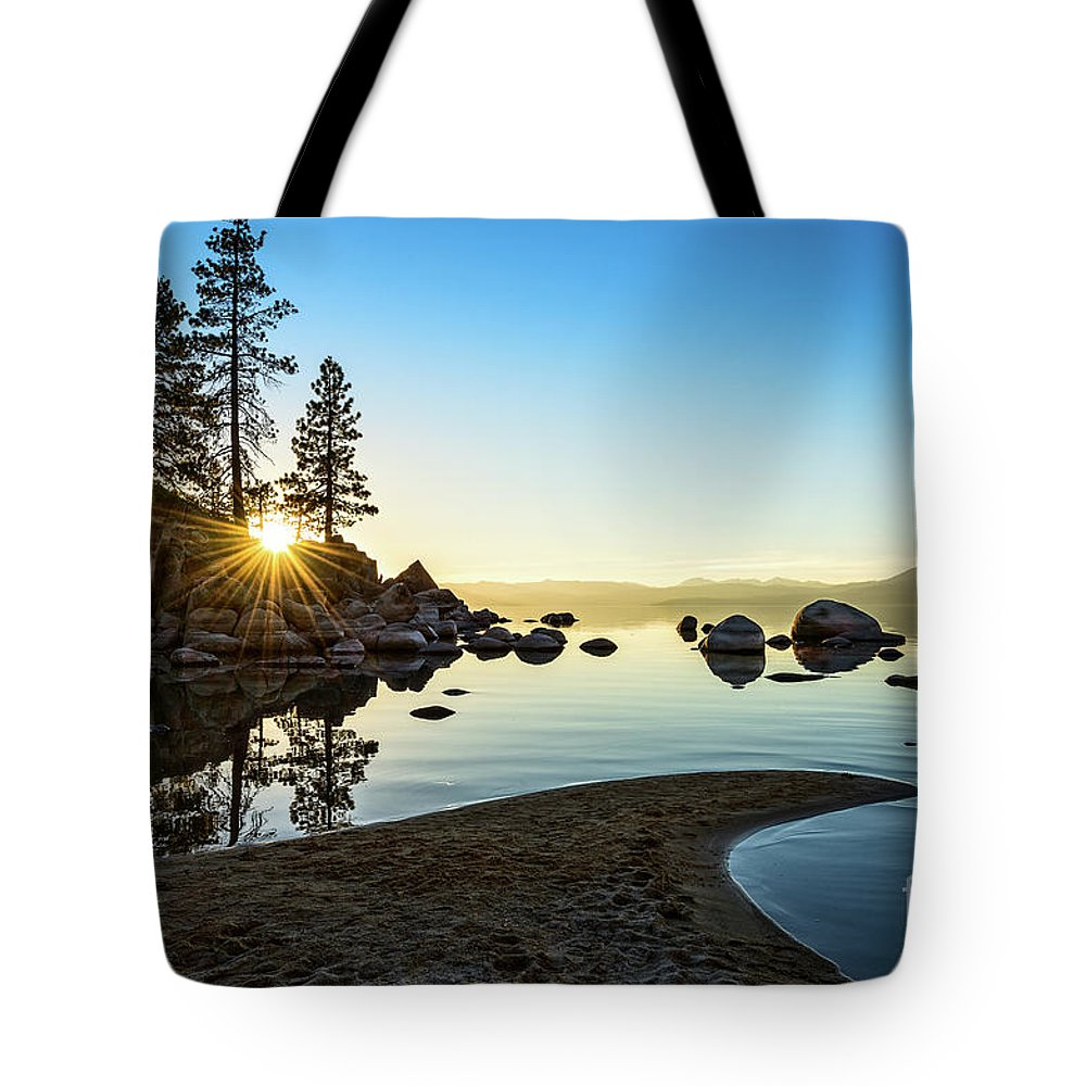 Sand Harbor Tote Bag featuring the photograph The Cove At Sand Harbor by Jamie Pham