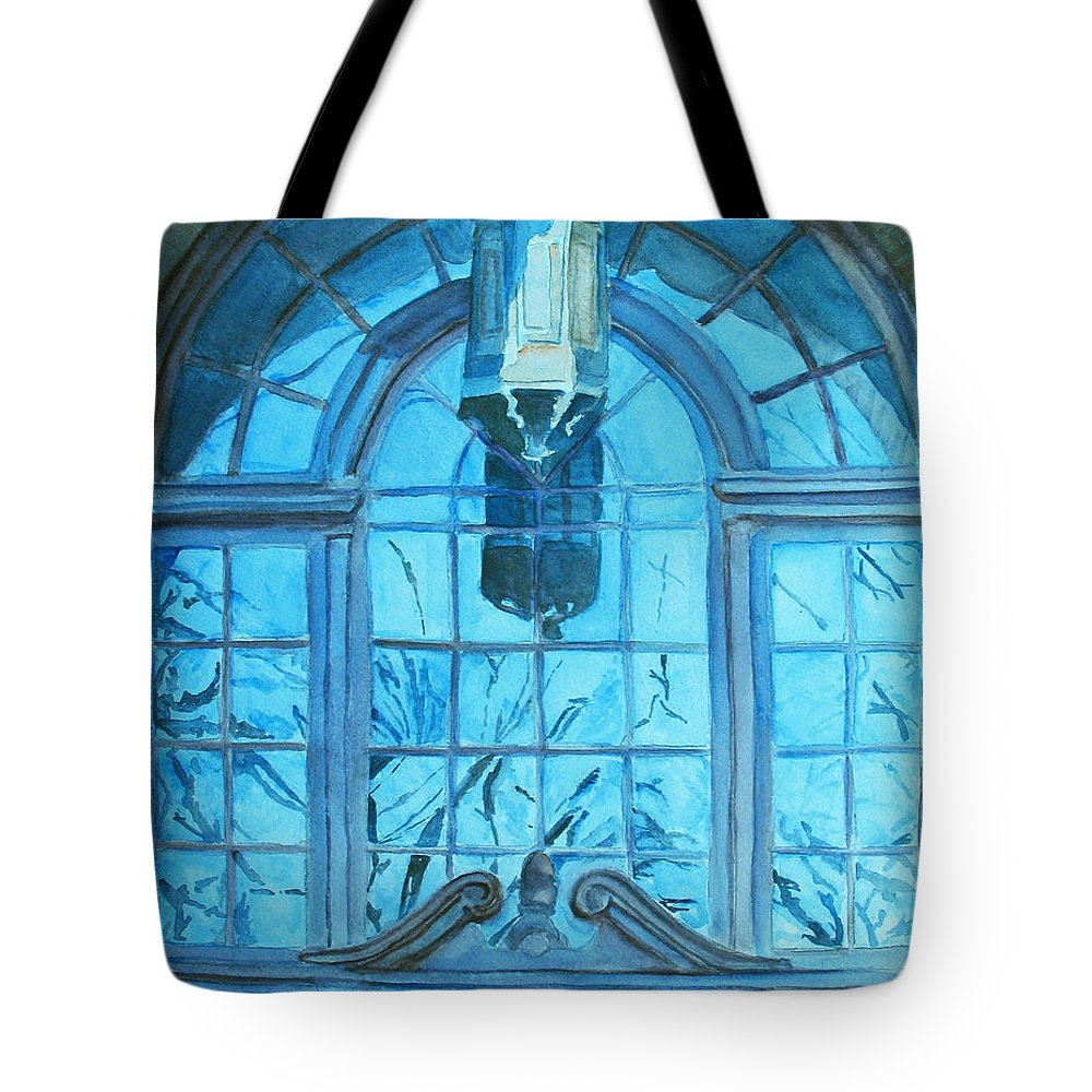 Window Tote Bag featuring the painting The Craftsmen Lantern by Jenny Armitage