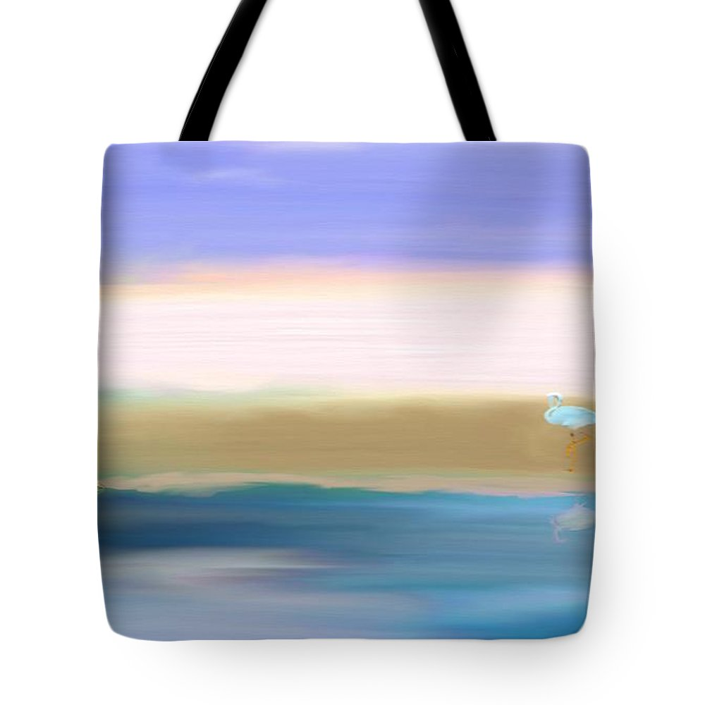 Crane Tote Bag featuring the painting The Crane by Gina Lee Manley