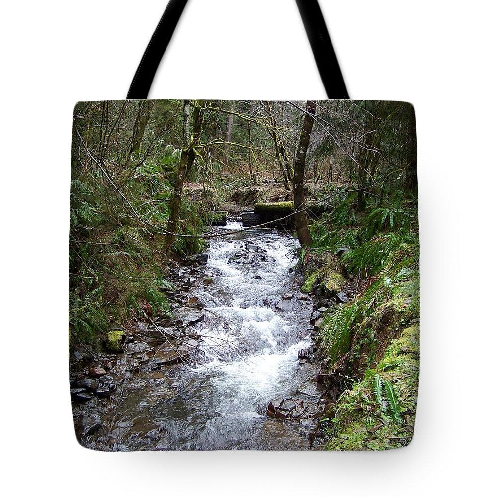 Digital Photography Tote Bag featuring the photograph The Creek by Laurie Kidd