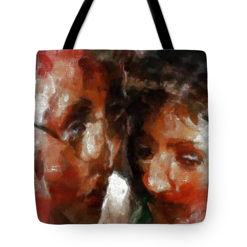 Distress Tote Bag featuring the painting The Crone's Advice by RC DeWinter