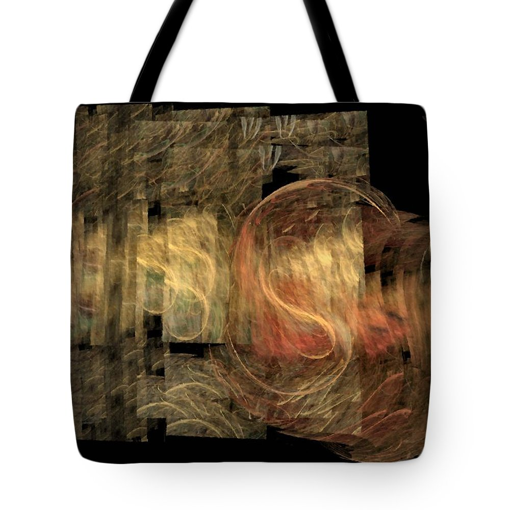 Abstract Tote Bag featuring the digital art The Crooked Road by NirvanaBlues