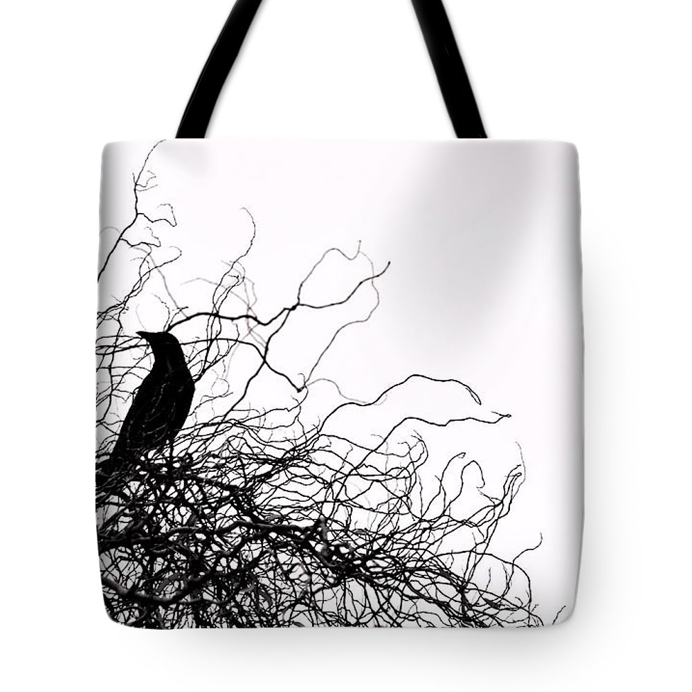 Birds Tote Bag featuring the photograph The Crow by Rui Militao