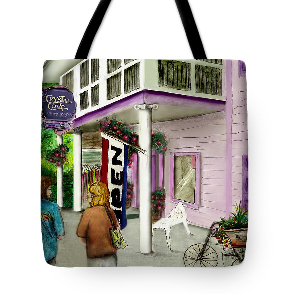 Crystal Cove Tote Bag featuring the drawing The Crystal Cove At Lilydale Ny by Albert Puskaric