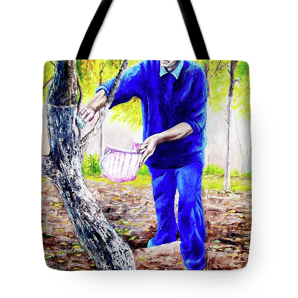 Daddy Tote Bag featuring the painting The Cure - La Cura by Rezzan Erguvan-Onal