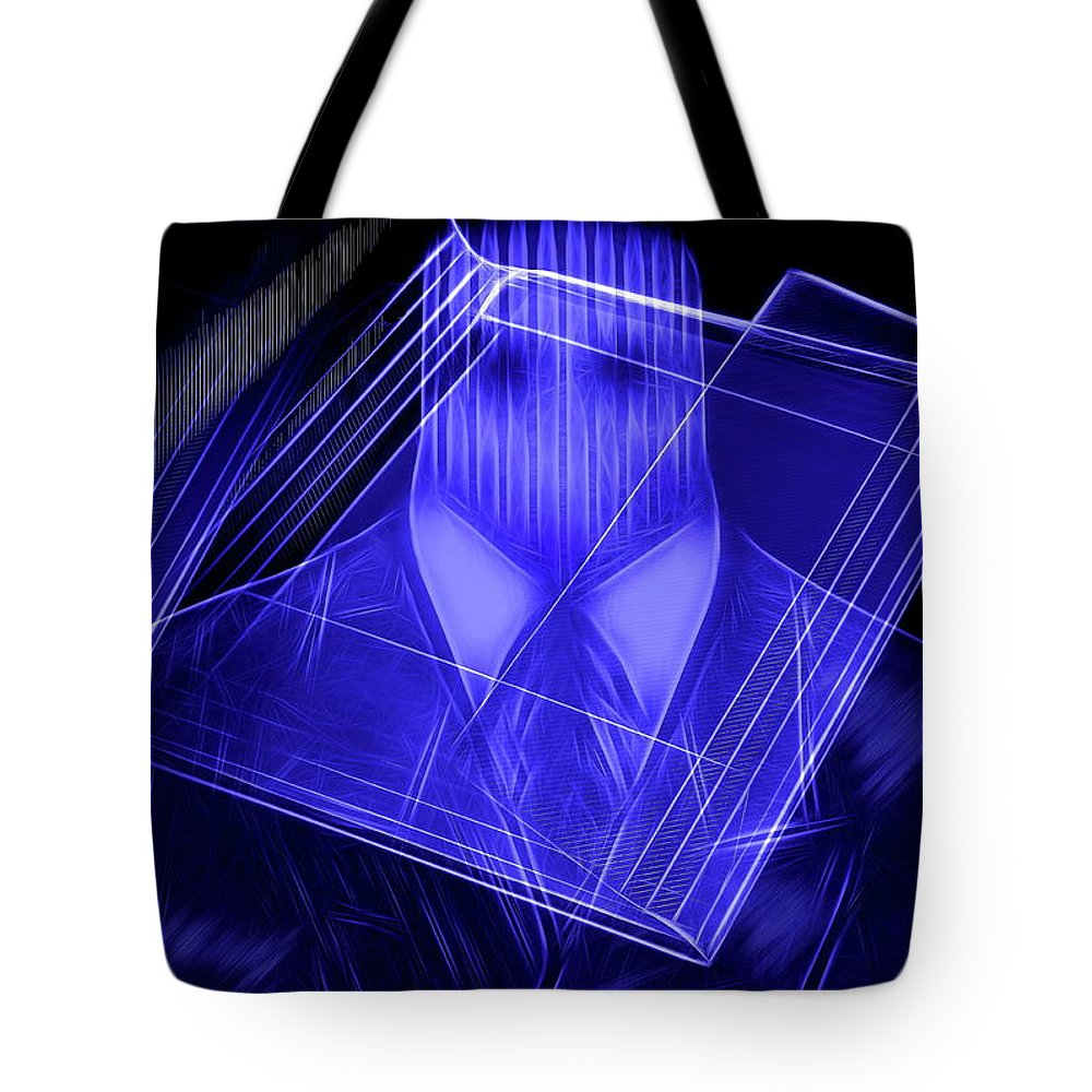 Man Tote Bag featuring the photograph The Cyber Office by Manfred Lutzius