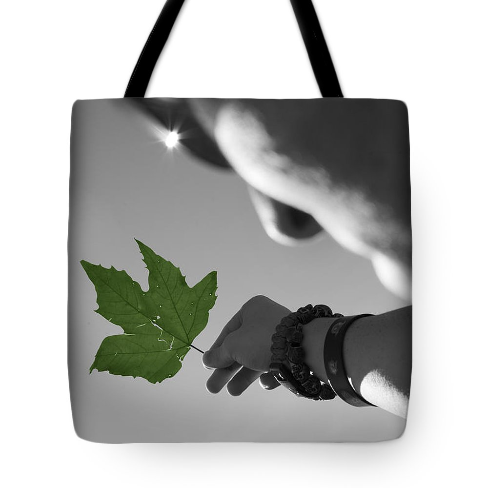 Leaf Tote Bag featuring the photograph The Cycle Photo Two by Stormy Mystique