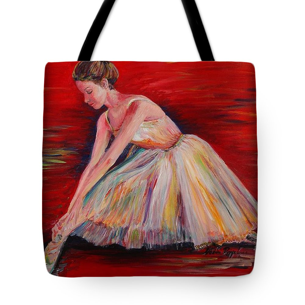 Dancer Tote Bag featuring the painting The Dancer by Nadine Rippelmeyer