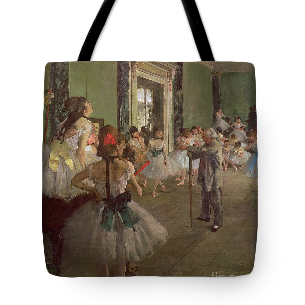 The Tote Bag featuring the painting The Dancing Class by Edgar Degas