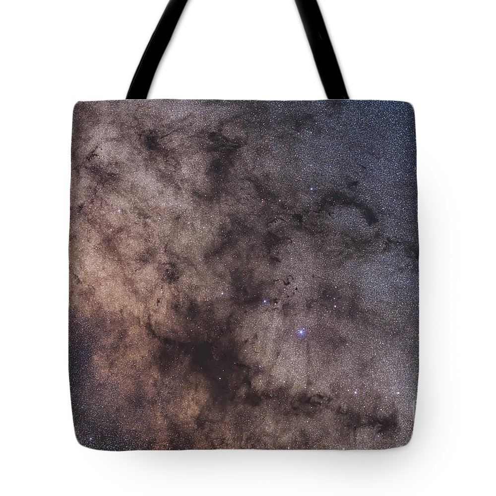 B72 Tote Bag featuring the photograph The Dark Horse And Snake Nebulae by Alan Dyer