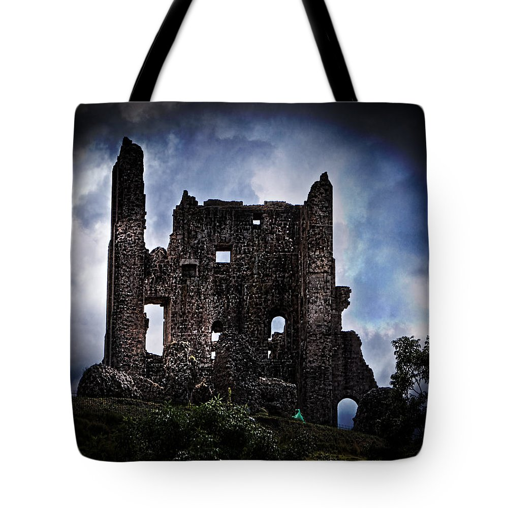 Keep Tote Bag featuring the photograph The Dark Keep by Chris Lord