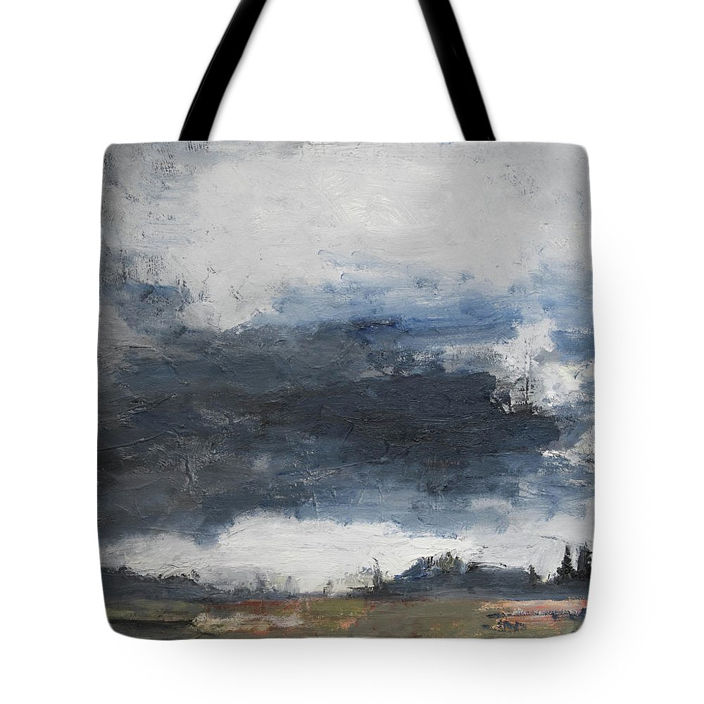 Landscape Tote Bag featuring the painting The Darkening by Craig Newland