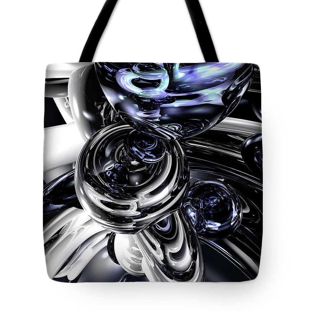 3d Tote Bag featuring the digital art The Darkside Abstract by Alexander Butler