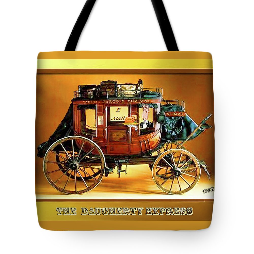 Travel Tote Bag featuring the painting The Daugherty Express by CHAZ Daugherty