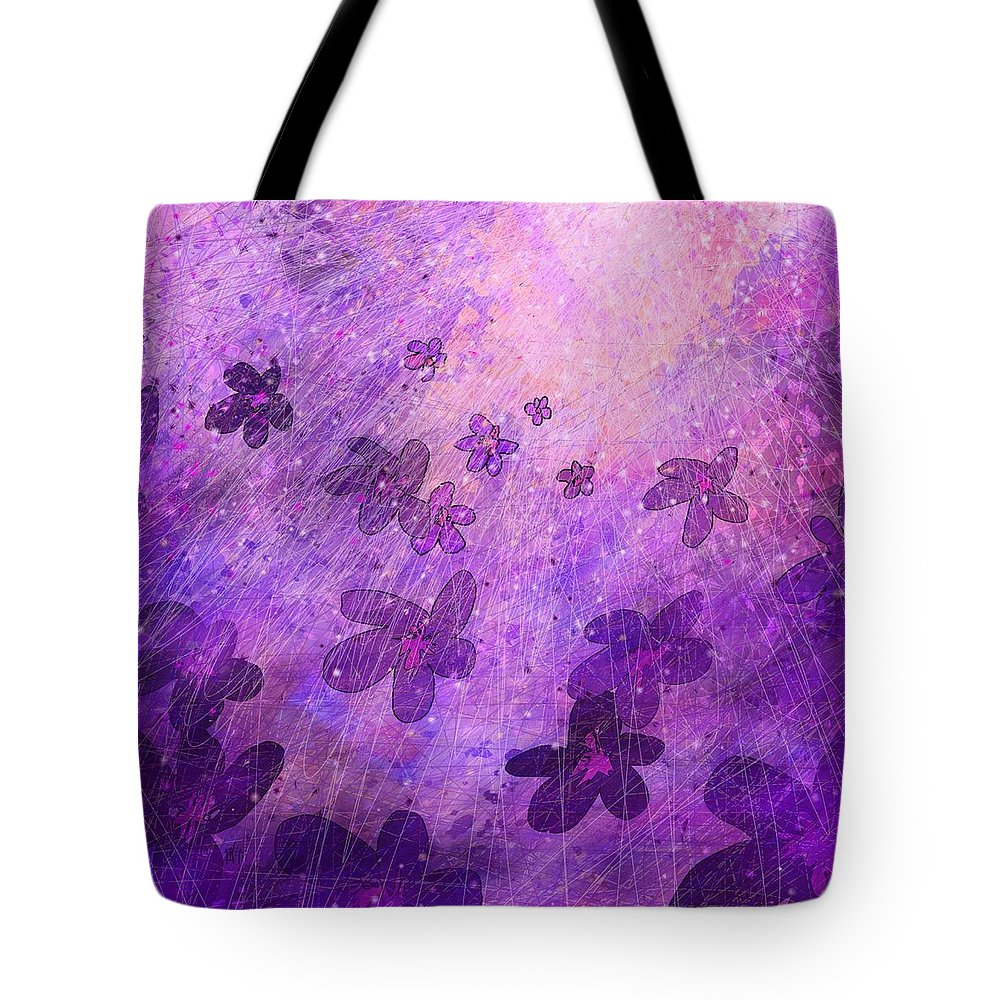 Abstract Tote Bag featuring the digital art The Dawning Of A New Age by Rachel Christine Nowicki