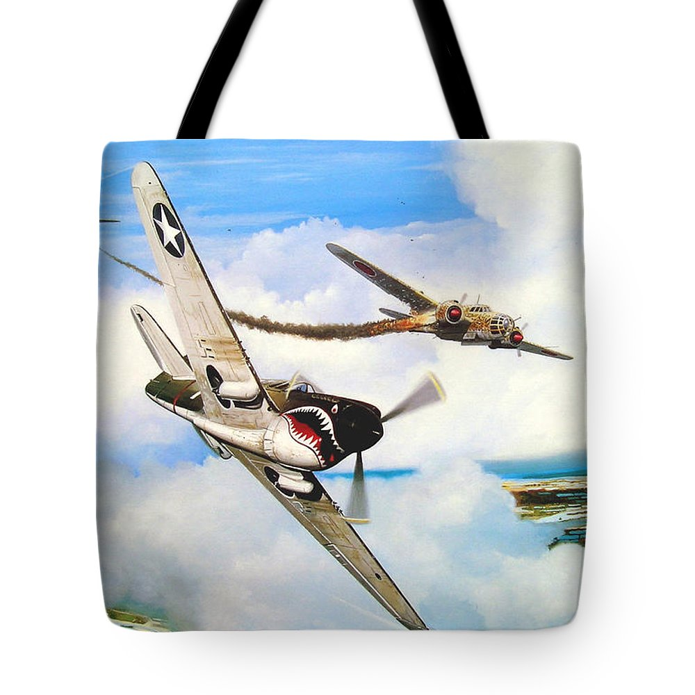 Military Tote Bag featuring the painting The Day I Owned The Sky by Marc Stewart