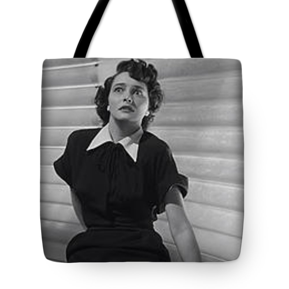 the Day The Earth Stood Still Tote Bag featuring the photograph The Day The Earth Stood Still Movie Panel 1951 by Daniel Hagerman