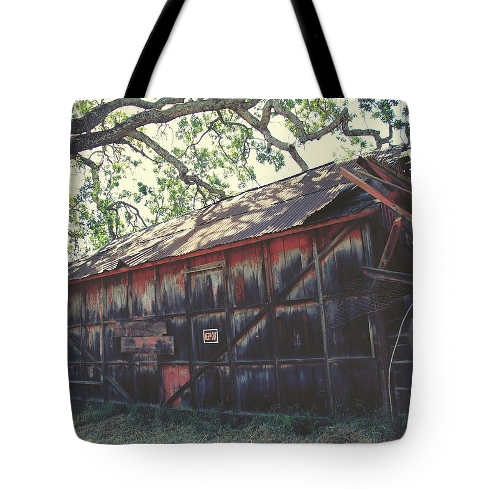 Morgan Hill Tote Bag featuring the photograph The Day Things Fell Apart by Laurie Search