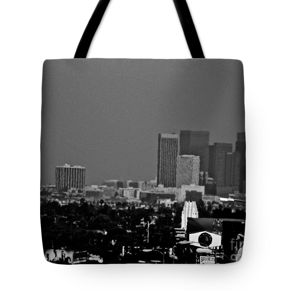 Black And White Tote Bag featuring the photograph The Day Was A Little Off by Jacqueline Howe