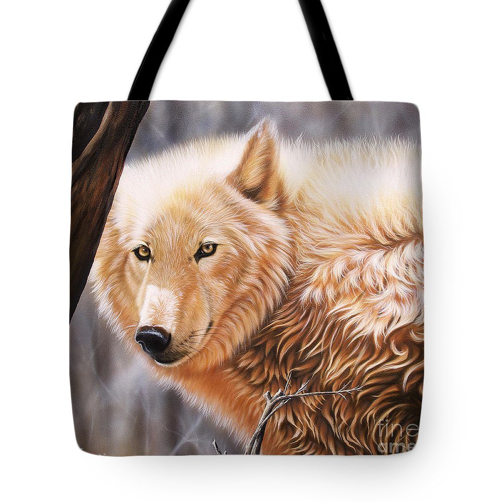 Acrylic Tote Bag featuring the painting The Daystar II by Sandi Baker