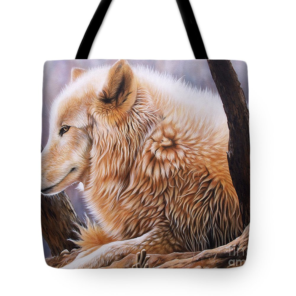 Acrylic Tote Bag featuring the painting The Daystar by Sandi Baker