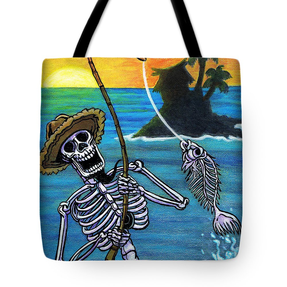 Day Of The Dead Tote Bag featuring the painting The Dead Sea by Jacob Medina