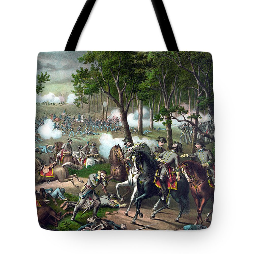 Civil War Tote Bag featuring the painting The Death Of Stonewall Jackson by War Is Hell Store