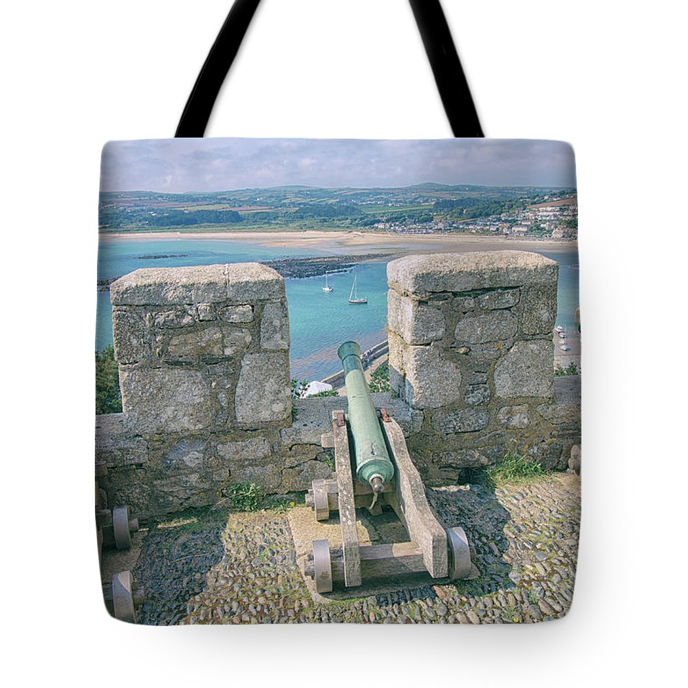 Canon Tote Bag featuring the photograph The Defence by Martin Newman