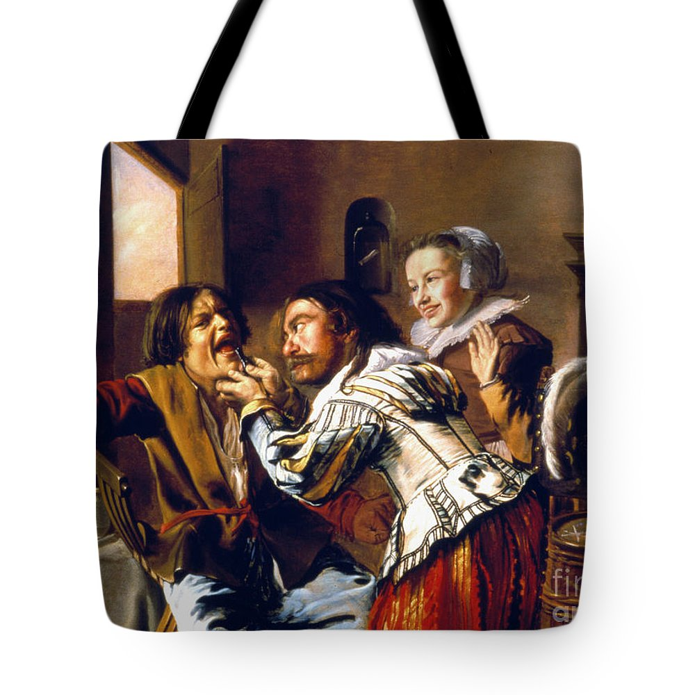 1629 Tote Bag featuring the photograph The Dentist, 1629 by Granger