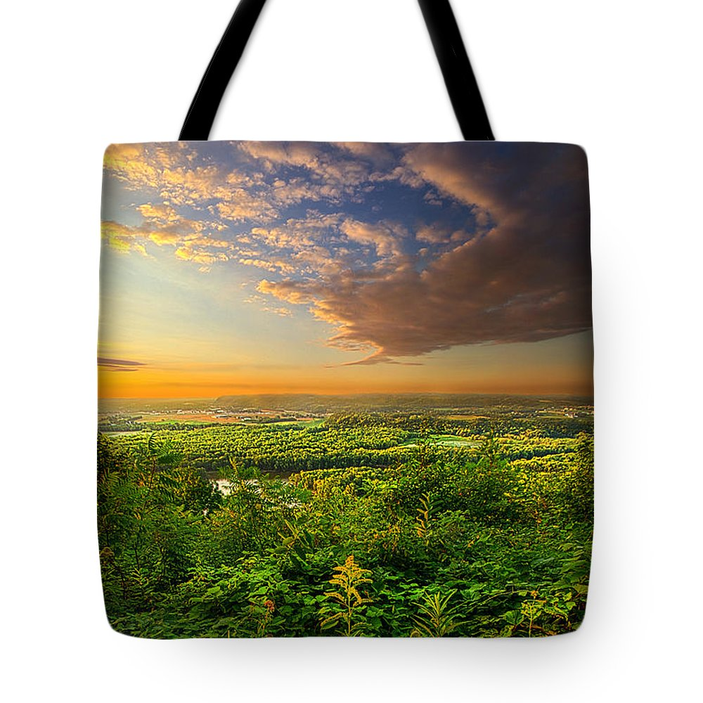 Valley Tote Bag featuring the photograph The Distance Between Here And Now by Phil Koch