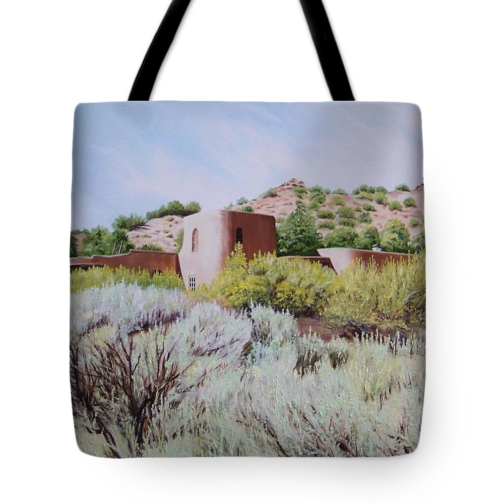 Usa Tote Bag featuring the painting The Dixon House by Mary Rogers