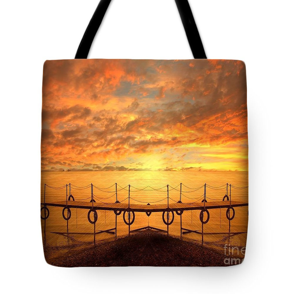 Waterscape Tote Bag featuring the photograph The Dock by Jacky Gerritsen