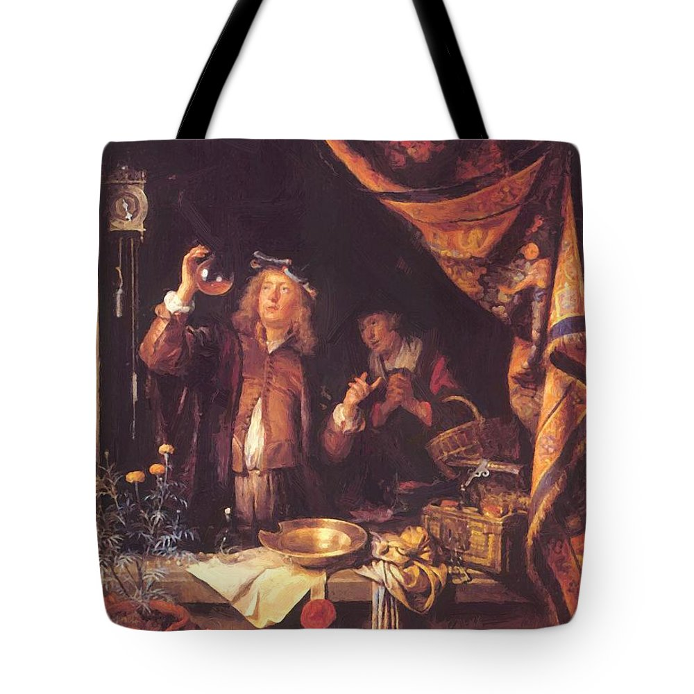 The Tote Bag featuring the painting The Doctor by Dou Gerrit
