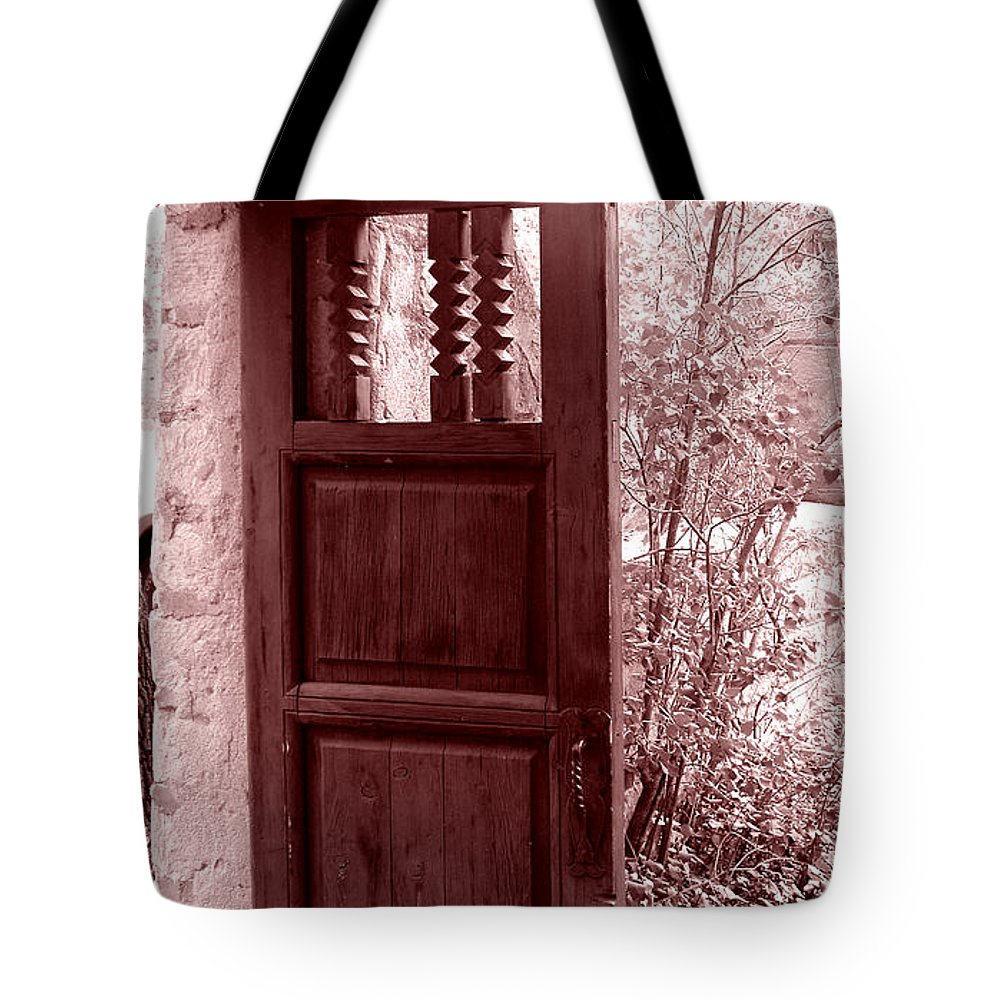 Door Tote Bag featuring the photograph The Door by Wayne Potrafka