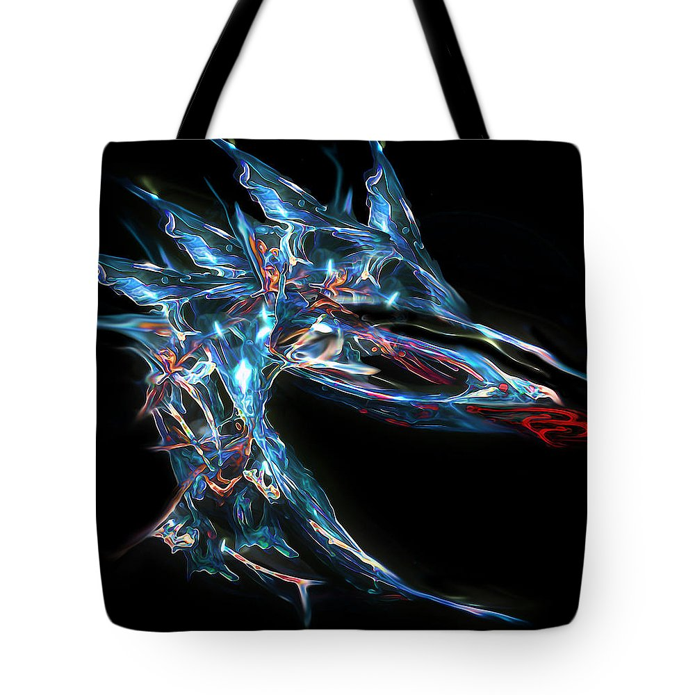 Dragon Tote Bag featuring the digital art The Dragon In Your Dreams by RC DeWinter